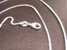 """925 SILVER 20"""" BOX 1.4MM CHAIN DAINTY NECKLACE LOBSTER CLASP NEW not known"""