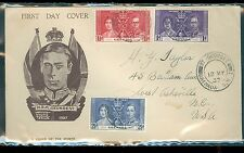 Grenada 1937 George VI coronation set on Taylor cover of the month 1937