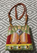 MARY FRANCES Beaded Embellished bag Orange strap STUNNING!
