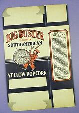Original c1920's Unused Big Buster Popcorn Box