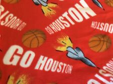 HOUSTON ROCKETS BASKETBALL FLEECE BY HABER FABRICS-62 INCH WIDE--BY THE YARD