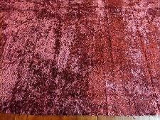 """Coupon de tissu velours Lelièvre """"Astrakan"""" Pourpre 130 x 95 cm (51' x 37' 6/16)"""