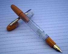 Yellow Clear Demo Fountain Pen Piston Filler Fine Nib (1362)