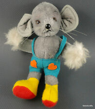 Suzy Quality Toys Mouse Mohair Plush 15cm 6in Bendy Felt Shorts 1960s Germany