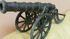 VINTAGE TOY CANNON METAL GUN Artillery FIELD WEPON ART DECO LARGE BRONZE BRASS