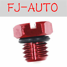 Red Fuel Filter Housing Bleeder Screw fits Chevy Duramax 2001-2016 Diesel