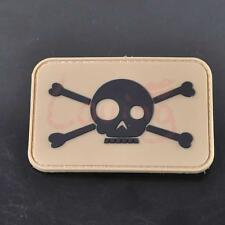 So Fun Skull Military 3D PVC Rubber Velcro Patch Tactical Morale Combat Badge