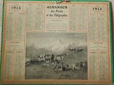 Calendrier Almanach des postes 1912. Authentique