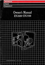 PRINTED 1997 HONDA GENERATOR EN2000 & EN2500 OWNERS MANUAL (095)