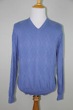 EUC Pendleton Woolen Mills Men's V-Neck Blue Pima Cotton LS Sweater XL