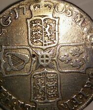 BARGAIN HALF CROWN QUEEN ANNE silver coin 1708 post union. Not E. Collector coin