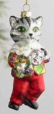 Italian Renaissance Cat Glass Christmas Ornament by Cost Plus World Market Italy