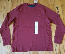 NWT mens Red LEVIS Waffle Thermal L/S henley shirt size Small