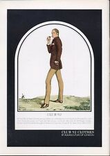 1969 Club 92 by Aquascutum of London Fashion Men Dress Clothes PRINT AD
