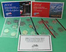 2006 P and D US Mint ANNUAL Uncirculated 20 Coin Set BU Coins COA & Envelope