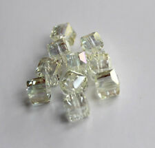 Pretty 10pcs 8mm Faceted Square Cube Cut Glass Crystal Loose Spacer Beads