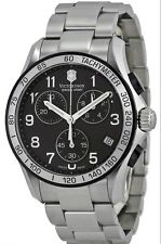 241403 Victorinox Swiss Army Black Dial Stainless Steel Chronograph Mens Watch