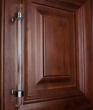 """4718-160-PC 6-1/4"""" Clear Acrylic Cabinet Drawer Pull Handle  - Polished Chrome"""