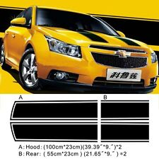 Car Dual Racing stripes Hood Trunk Decals for Cruze Vinyl  Stickers #699
