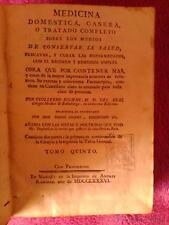 MEDICINA DOMESTICA, CASERA, O TRATADO COMPLETO SOBRE CONSERVAR LA SALUD