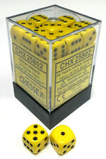 Chessex Dice: Opaque 12mm D6 Yellow/Black (36) CHX 25802