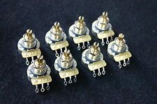 8 X CTS A500K/Regular A Type(Audio taper) Brass Shaft pots