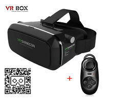 """3D VR Headset Virtual Reality Glasses with Remote Control for 4.0-6.0""""Smartphone"""
