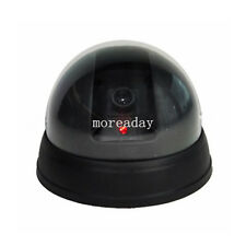 Dummy Fake CCTV Dome Security Camera Flashing LED Light Surveillance Outdoor
