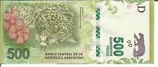 ARGENTINA 500 PESOS 2016  P NEW. XF CONDITION. 4RW 15SET