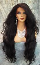 LACE FRONT WIG WAVY LONG WAVY COLOR GORGEOUS COLOR #1 NEW/TAGS USA SELLER 401