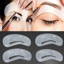 4 Styles Grooming Stencil Kit Shaping DIY Beauty Eyebrow Template Make Up Tools