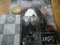 Eaglemoss Lord Of The Rings Chess Set 2 - Issue 51 Lurtz black bishop with mag