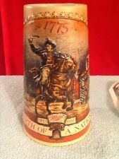 1991 Miller High Life collector stein. Birth of a Nation, Paul Revere's Ride