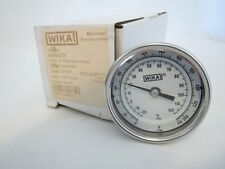 "New WIKA 32025D006G4 Bimetal Thermometer 3""  0-250 PSI 1/2"" NPT 2.5 Stem"