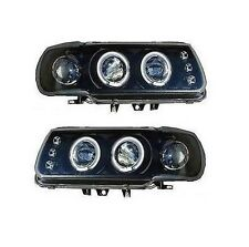 Vw Polo Mk4 6n 94-99 Negro Twin Proyector Angel Eye Faros
