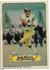 1983 Topps Stickers Dan Fouts card, San Diego Chargers HOF