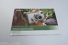 Sony Cybe-rshot DSC-W7 / W17 /W5 / W15 accesorios accessories catalog vintage