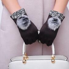 UK Fashion Women Touch Screen Cotton Winter Warm Gloves Mittens Glove Xmas