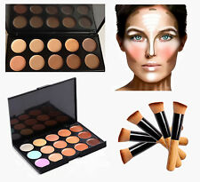 New 10 &15 Colours Concealer Palettes with Brush Face Cream Contour Make-up Kits