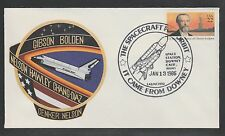2014 US rocket mail cover - WARWICK, Space Shuttle, Space Station DOWNEY Calif