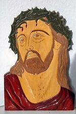 Carved icon Jesus Christ handmade orthodox greek byzantine christian catholic