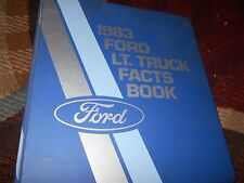 1983 FORD RANGER BRONCO II F150 F250 BRONCO ECONOLINE FACTS BOOK DEALER ALBUM