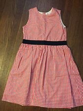 EUC!! Brooks Brothers Fleece girls red gingham dress size 10