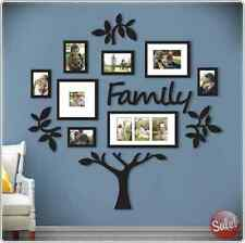 FAMILY TREE WALL PHOTO FRAME 13PC SET PICTURE COLLAGE HOME DECOR ART GIFT BLACK