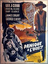 Affiche PANIQUE A L'OUEST Brazen Bell LEE J. COBB James Sheldon WESTERN 60x80*
