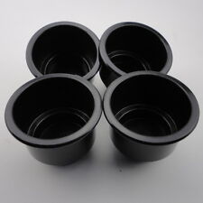 UK Universal 4 PCS Boat Black Plastic Cup Holder Drink Can Holder Boat Marine RV