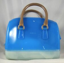 FURLA CANDY MINI COLORBLOCK ATLANTIC RUGIADA LUNA SATCHEL JELLY BAG