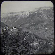 Glass Magic Lantern Slide STALHEIM VIEW FROM HOTEL DATED 1934 PHOTO NORWAY