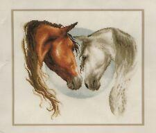 Stickpackung Stickbild 33x29 Pferdeliebe Pferd Pferde Stute Hengst Fohlen Liebe