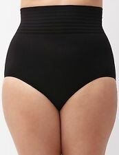 NWT Lane Bryant Cacique Plus 26 28 Black High Waist Seamless Brief Panty